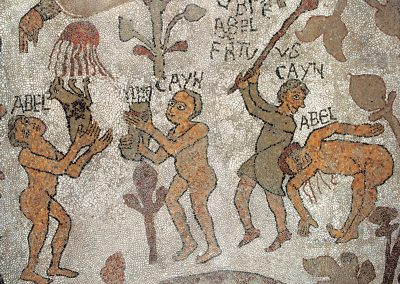 Cain and Abel in Otranto mosaic