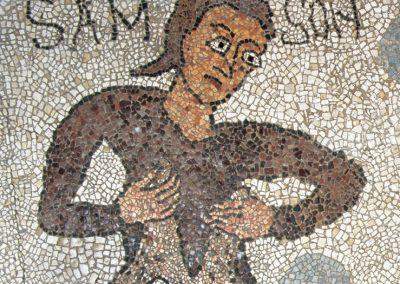Samson: mosaic of otranto