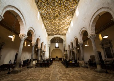 Moorish coffered ceiling in the Cathedral of Otranto