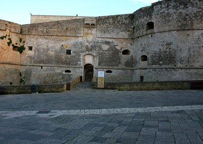 Entrance of the Aragonese castle of Otranto