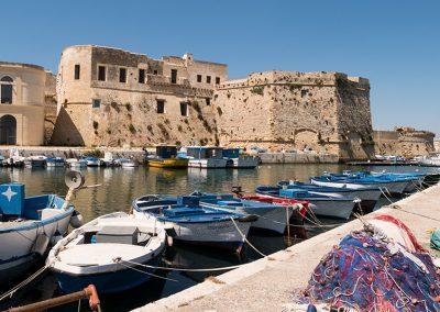 Porto dei Pescatori e Castello di Gallipoli