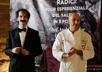 Gianfranco Ruggeri e lo chef Ivan Tronci