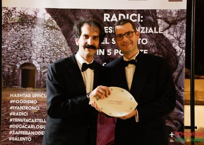 """Andrea Cavalieri riceve il premio per la pasta di qualità """"Benedetto Cavalieri"""""""