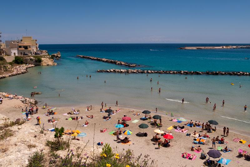 Spiaggia di un villaggio direttamente sul mare di Otranto
